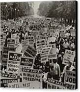March On Washington. African Americans Canvas Print