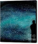 Meditation Under The Stars Canvas Print by NARI - Mother Earth Spirit