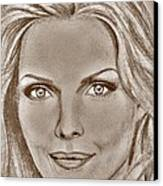 Michelle Pfeiffer In 2010 Canvas Print by J McCombie