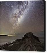 Milky Way Over Cape Schanck, Australia Canvas Print