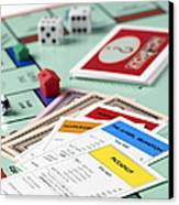 Monopoly Board Game Canvas Print