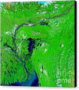Monsoon Floods Canvas Print by NASA / Science Source