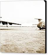 Mothballed C-141s Canvas Print by Jan W Faul