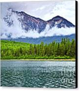 Mountain Lake In Jasper National Park Canvas Print