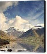 Mountains And Lake At Lake District Canvas Print