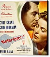 Notorious, Cary Grant, Ingrid Bergman Canvas Print