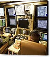 Operators Control Uavs From A Ground Canvas Print by HIGH-G Productions