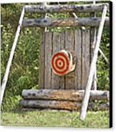 Outdoor Wooden Bulls-eye Canvas Print by Jaak Nilson