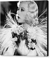 Page Miss Glory, Marion Davies, 1935 Canvas Print by Everett