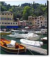 Portofino In The Italian Riviera In Liguria Italy Canvas Print by David Smith