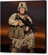 Portrait Of A U.s. Marine In Uniform Canvas Print