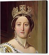 Portrait Of Queen Victoria Canvas Print by Franz Xavier Winterhalter