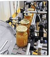 Preserve And Jam Bottling Production Line Canvas Print by Photostock-israel
