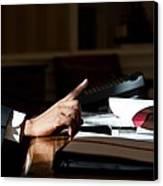 President Barack Obama Gestures Canvas Print