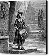 Puritan Church Drummer Canvas Print