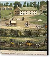 Quaker Meeting, 1811 Canvas Print by Granger