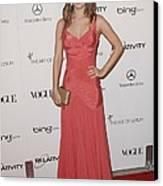 Rachel Bilson Wearing A Zac Posen Dress Canvas Print by Everett