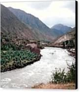 River Urubamba Through The Sacred Valley Of The Incas Canvas Print by Ronald Osborne