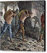 Roman Slavery: Coal Mine Canvas Print