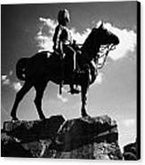 Royal Scots Greys Boer War Monument In Princes Street Gardens Edinburgh Scotland Uk United Kingdom Canvas Print