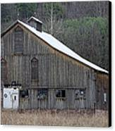 Rustic Weathered Mountainside Cupola Barn Canvas Print