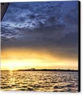 Sailing Sunset Charleston Sc Canvas Print by Dustin K Ryan