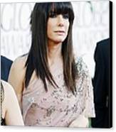 Sandra Bullock Wearing A Jenny Packham Canvas Print by Everett