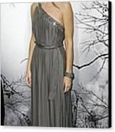 Sandra Bullock Wearing A Lanvin Dress Canvas Print by Everett