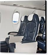 Seats On An Airliner Canvas Print by Jaak Nilson