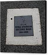 Shea Stadium Second Base Canvas Print