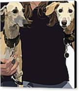 Sighthounds II Canvas Print by Kris Hackleman