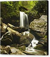 Smoky Mountain Waterfall Canvas Print by Andrew Soundarajan