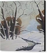 Snow Canvas Print by Debra Piro