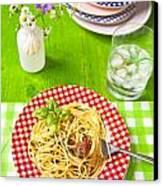 Spaghetti Al Pesto Canvas Print