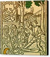 St. Catherine, Italian Philosopher Canvas Print