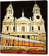 St. Paul's Cathedral In London At Night Canvas Print
