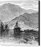 St. Thomas: Hurricane, 1867 Canvas Print