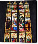 Stained Glass Window Canvas Print by Suhas Tavkar