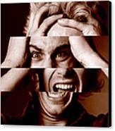 Stressed Man Canvas Print by Victor De Schwanberg