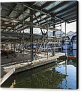 Structural Steel Construction Creating Canvas Print by Don Mason