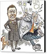 T. Roosevelt Cartoon Canvas Print by Granger