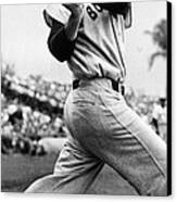 Ted Williams Of The Boston Red Sox, Ca Canvas Print by Everett