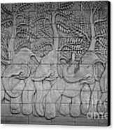 Thai Style Handcraft Of Elephant Canvas Print