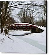 The Delaware Canal At Washington's Crossing Canvas Print by Bill Cannon