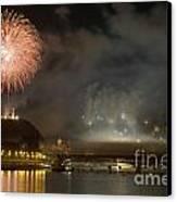 The Firework Canvas Print by Odon Czintos