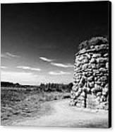the memorial cairn on Culloden moor battlefield site highlands scotland Canvas Print