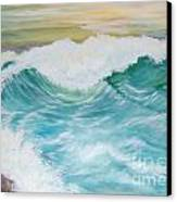 The Mighty Pacific Canvas Print by Janna Columbus