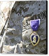 The Purple Heart Award Hangs Canvas Print by Stocktrek Images