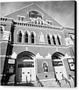The Ryman Auditorium Former Home Of The Grand Ole Opry And Gospel Union Tabernacle Nashville Canvas Print