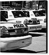 Toronto Police Squad Cars Outside Police Station In Downtown Toronto Ontario Canada Canvas Print